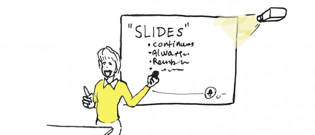 Presentation with slides